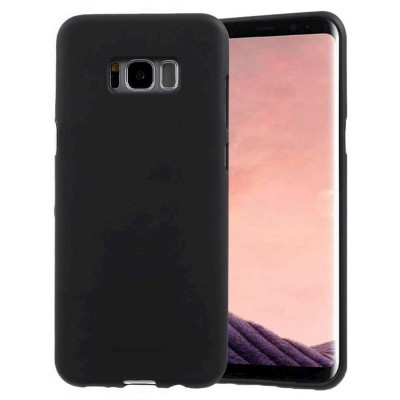 Goospery Soft Feeling για Samsung SM-G955F Galaxy S8+ Μαύρη by Mercury