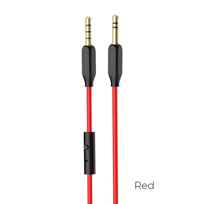 Καλώδιο σύνδεσης Ήχου Hoco UPA12 3.5mm Male σε 3.5mm Male με Ενσωματωμένο Μικρόφωνο και Πλήκτρα για Audio-in, Κινητά Τηλέφωνα και Συσκευές Ήχου 1 μ. Μαύρο
