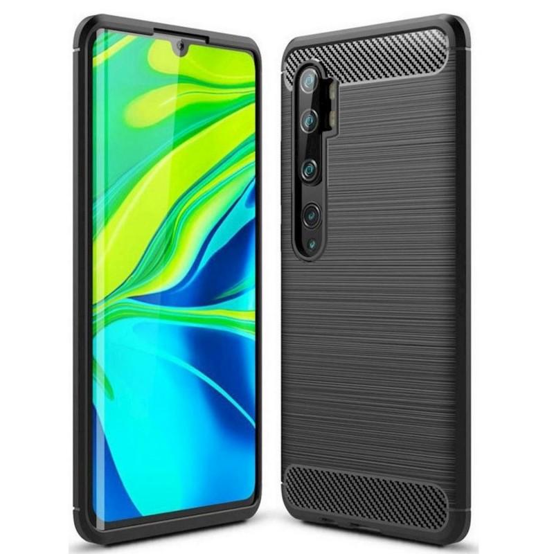 Θήκη TPU Ancus Carbon Series για Xiaomi Mi Note 10 / Pro Μαύρη