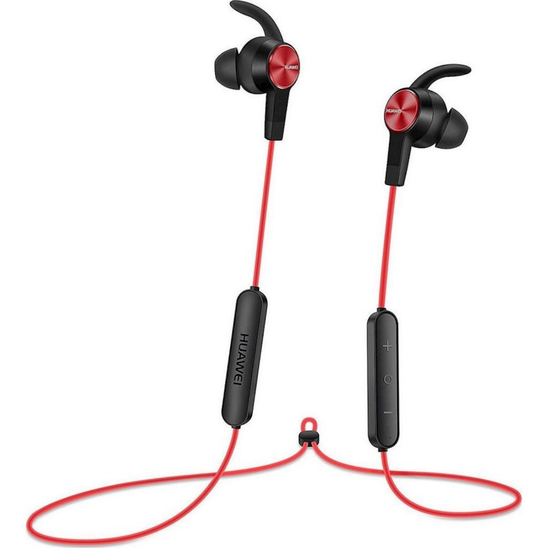 Huawei Bluetooth Hands Free  AM61 Sport Lite Magnetic Κόκκινο με Noise Cancellation Half-in-ear