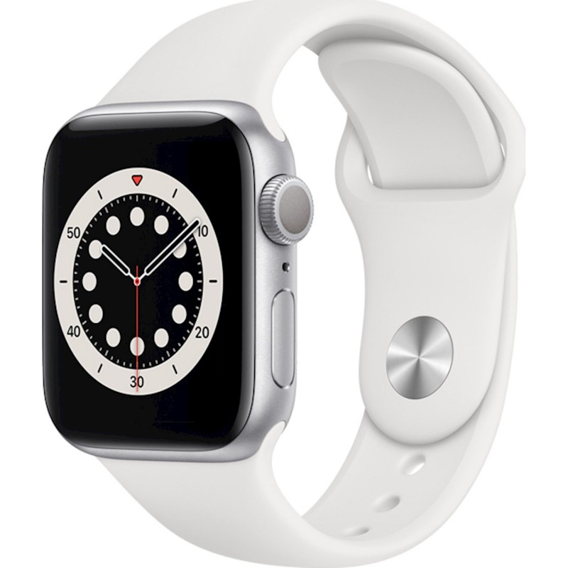 Apple Watch Series 6 GPS 40mm Blue Aluminum Case with Sport Band White EU