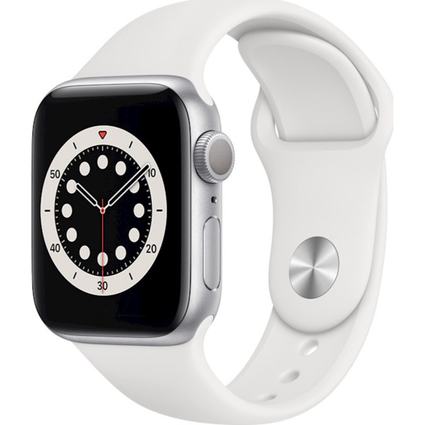 Apple Watch Series 6 GPS 44mm Blue Aluminum Case with Sport Band White EU