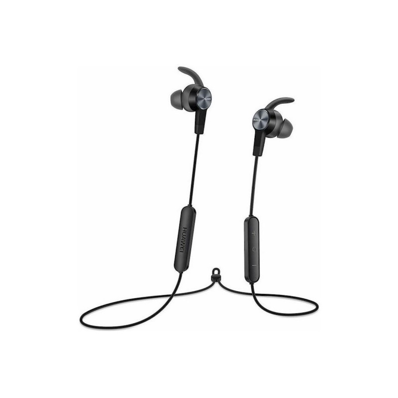 Huawei Bluetooth Hands Free  AM61 Sport Lite Magnetic Μάυρο με Noise Cancellation Half-in-ear
