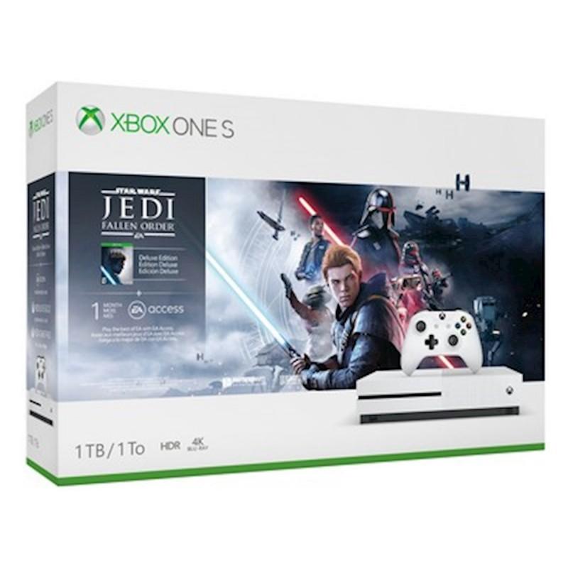 Microsoft Xbox One S White - 1TB & JEDI Fallen Order