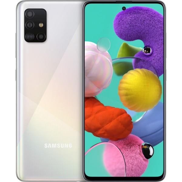 Samsung Galaxy A51 A515 Dual Sim 4GB RAM 128GB White / Silver EU