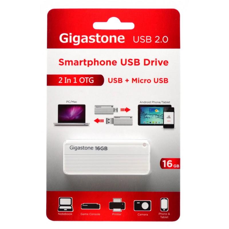 Gigastone Smartphone Drive 2in1 OTG USB + Micro USB2 16GB