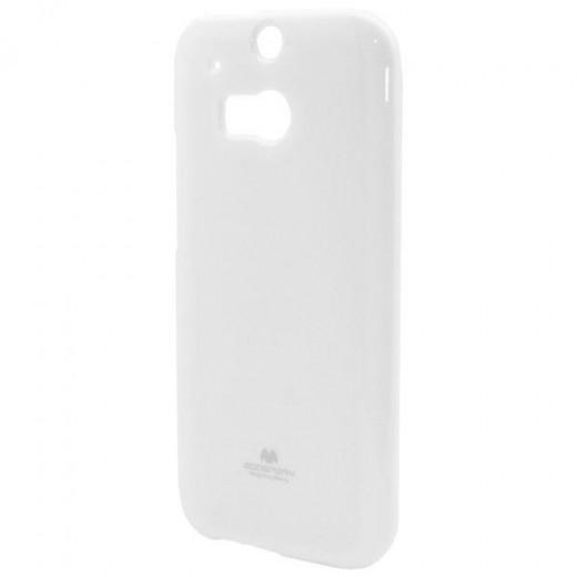 Goospery Θήκη TPU HTC One (M8) Jelly Series Λευκό
