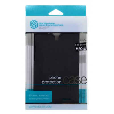 Nillkin Faceplate για Lenovo A536 Frosted Shield με Screen Protector Ultra Clear Μαύρη