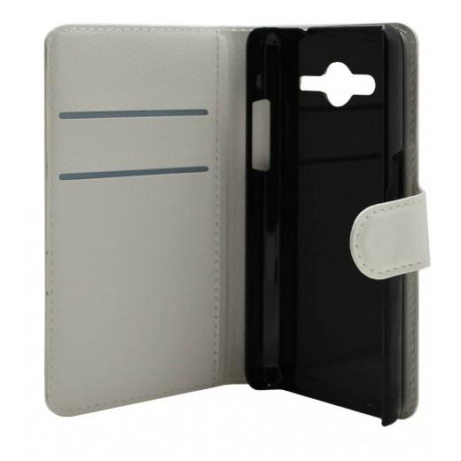 Θήκη Flip Book Samsung G355H Galaxy Core 2 Foldable Λευκό