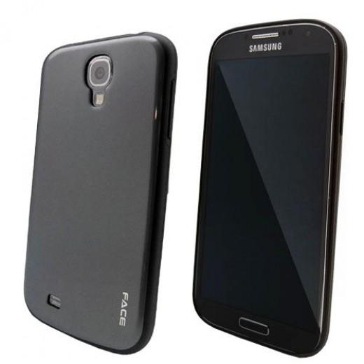 Θήκη TPU Face Samsung i9505 Galaxy S4 Colorful Series Γκρί