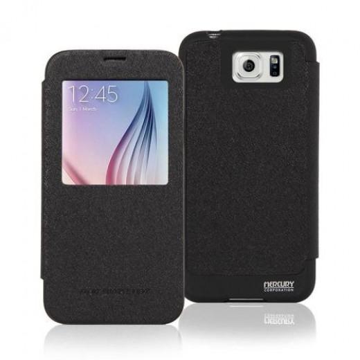 Θήκη Flip Wow Bumper View Goospery Samsung G920 Galaxy S6 Μαύρο