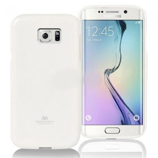Θήκη TPU Goospery Samsung G925 Galaxy S6 Edge Jelly Series Λευκό