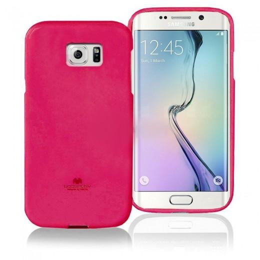 Θήκη TPU Goospery Samsung G925 Galaxy S6 Edge Jelly Series Φούξια