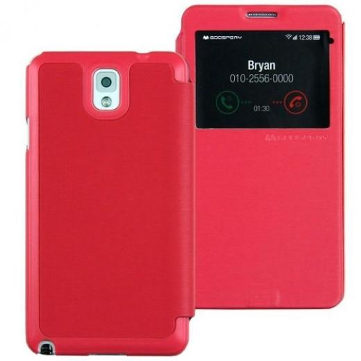 Goospery Θήκη Flip Easy View Samsung N9005 Galaxy Note 3 Φούξια