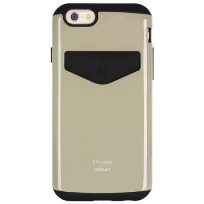 Goospery Θήκη Apple iPhone 6 iPocket Bumper Series Χρυσό-Μαύρο